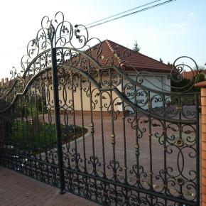 Brama i ogrodzenie, dom prywatny