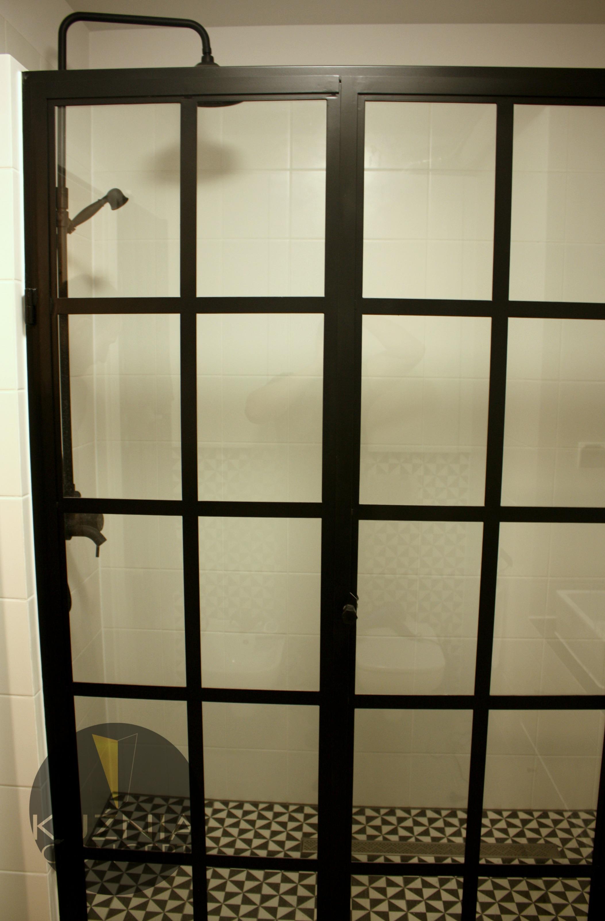 Przeszklenie Prysznicowe Crittall Prysznic Mieszkanie Prywatne